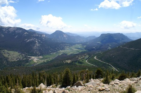 The view from Trail Ridge Road