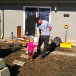 Seren & Adam helping out